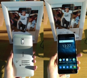 Nokia 6 rear and front