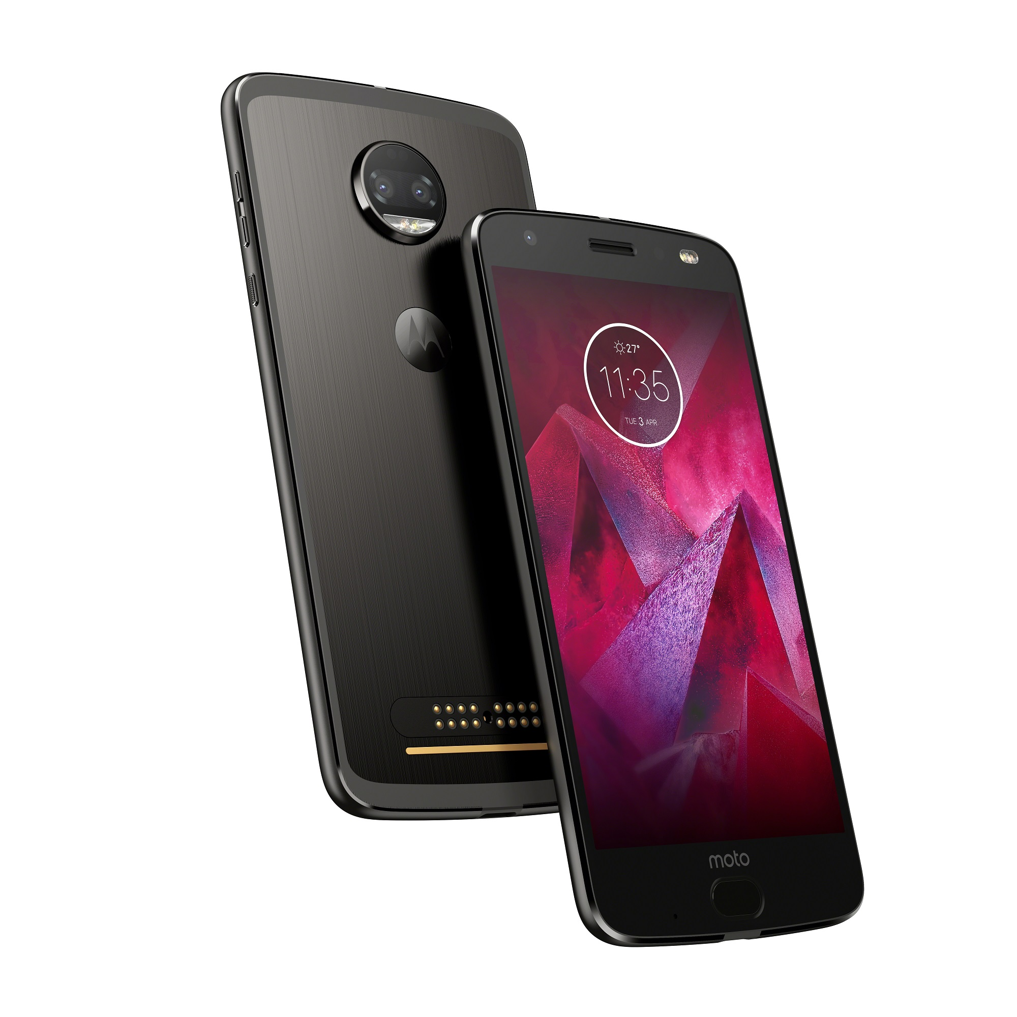 Moto Z2 Force Edition_Front Back_Super Black
