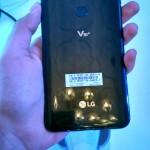 Rear of the LG V30+